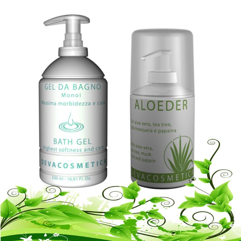 offerta epiltech prodotti corpo con aloeder e bagno gel