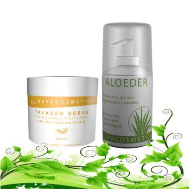 offerta prodotti corpo con aloeder e talasso scrub