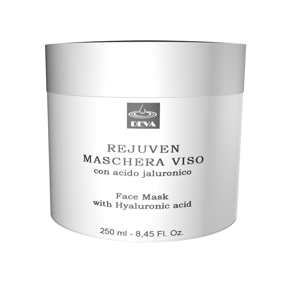 maschera viso antietà con acido ialuronico